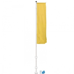 flagpole (height 8m, diameter 75mm)