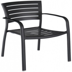 Chair with armrest (charcoal)