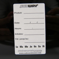 Easily Removable Cambro Label (french) - 1000 labels