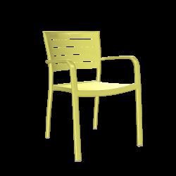 Stuhl Helke mit Armlehne (limone)